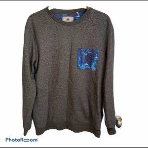 On The Byas Sweatshirt Pocket Long Sleeve Gray L